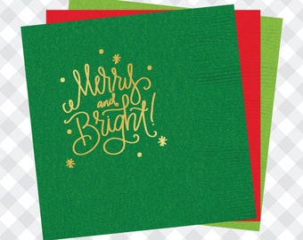Merry and Bright Napkins (Qty 25)