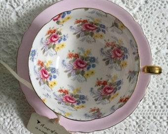 Vintage Shelley Georgian Chintz Tea Cup & Saucer