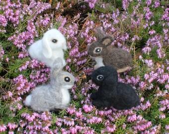 Needle felted rabbit, Needle Felted Bunny, Handmade, Rabbit