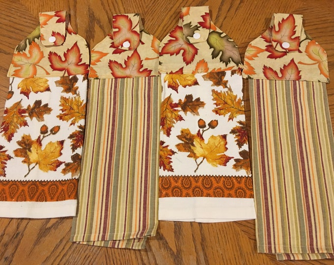 Twp terry and two cotton kitchen towels