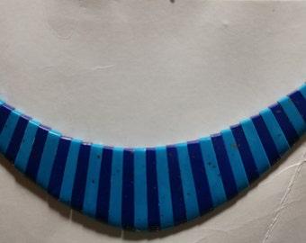 41 Pc. Lapis/Turquoise Collar - Cleopatra Style Center piece (2044032)