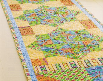Handmade Tropical Summer Quilted Table Runner