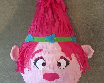 Princess poppy pinata, trolls pinata