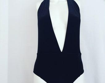 Black velvet swimsuit
