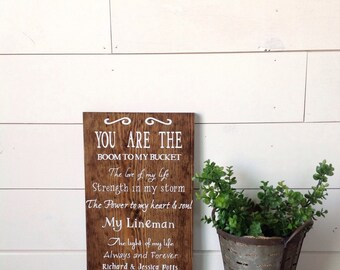 You are the, lineman sign, custom order lineman sign, wood lineman sign, sign for lineman, rustic lineman sign, lineman, gift for lineman