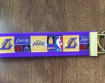 L A Lakers Key Chain Zipper Pull Wristlet