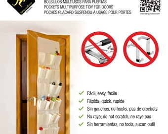 KanguruDoor Friendly Over Door Storage Pockets 24 in T/C material