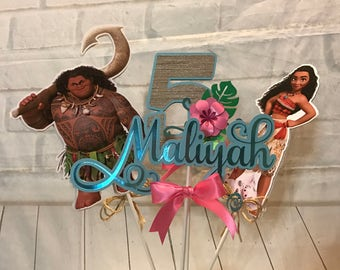 Moana centerpiece, Moana cake topper, Moana party, Moana birthday party, Moana tableware, Moana table decor, Moana party decorations