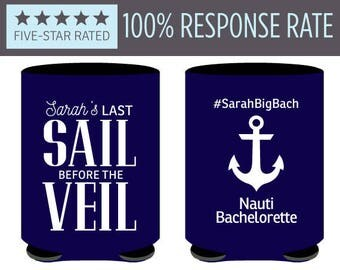Cruise Bachelorette Can Coolers, Last Sail Before the Veil Can Coolers, Bachelorette Can Coolers for Bachelorette Party (65)
