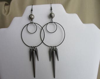 Faux Spiked Hoopz