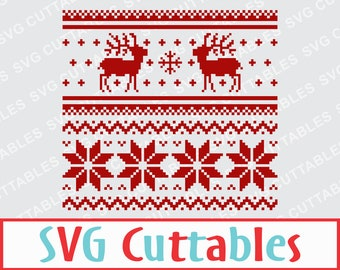Ugly Christmas Sweater, Reindeer Christmas Sweater svg, dxf, eps, deer svg, Silhouette file, Cricut cut file, digital download