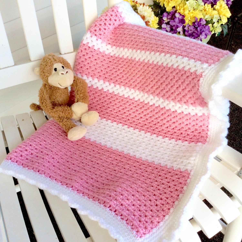 Easy Beginner Crochet Baby Blanket Tutorial : Easy Baby Blanket Crochet Pattern, Beginner or ...