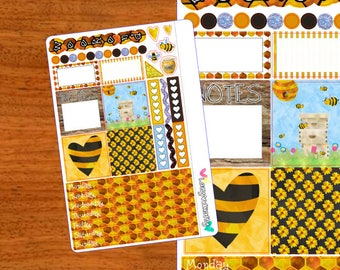 Honeybees Mini Kit - Weekly Mini Happy Planner Kit - Planner Stickers for the Mini Happy Planner, Filofax, and more!