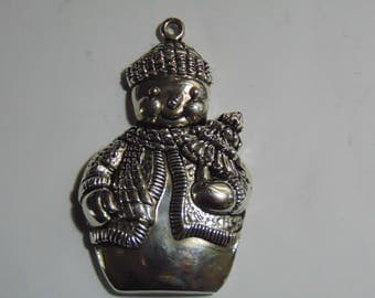 Gorham Silver Plated Snowman Christmas Ornament