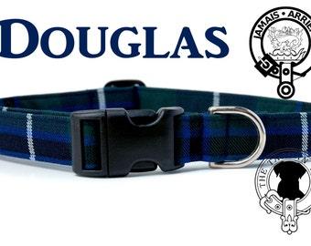 Douglas Tartan Dog Collar, Scottish Tartan Dog Collar, Clan Douglas