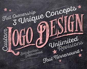 Custom Logo Design, Logo Design,  Logo Design Custom, Business Logo, Photography Logo, Small Business Logo, Watercolour Logo