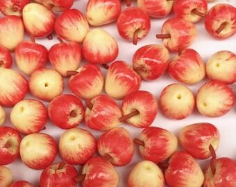 Miniature Red Apple,Miniature Fruit,Miniature Apple,Dollhouse Apple,Dollhouse Fruit,Miniature Handmade,Dollhouse Miniatures Apple,Red Apple