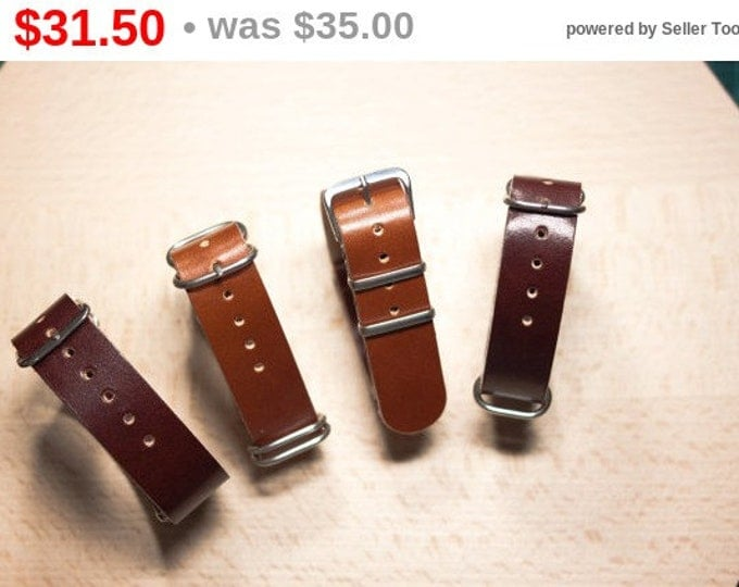 Handmade leather watch strap 18, 20, 22mm