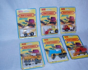 Vintage Lot of 6 Matchbox Superfast cars 1973-1977 26,29,37,49,50,51 free shipping in US