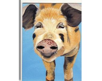 Pig Notecards - Pig Cards - Farm Animal Stationary