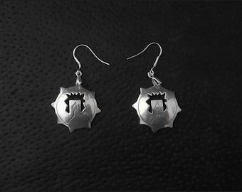 Hueco Petroglyph earrings: Handcrafted, Sterling Silver, Dangle earrings