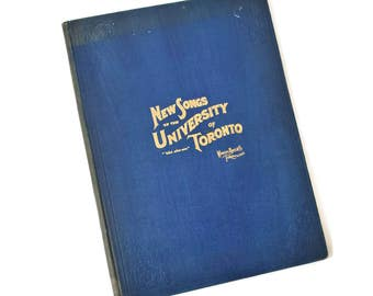 Antique Original Music Songbook New Songs Of The University Of Toronto Victorian Era 1899 Nice Condition