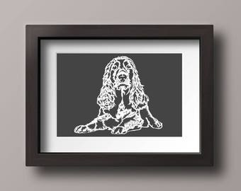 Pet Portrait Papercut Made to Order