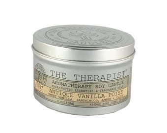 Scented Soy Candle < No. 05 Antique Vanilla Poise>- Hand Poured - Highly Fragrant - 6 oz - Tin Can