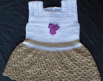 Crochet Gold Dress, Crochet Baby Dress, Baby Dress, Easter Dress, Easter Baby Dress, Crochet Dress, Baby Shower Gift, Photo Prop, Baby Gift.