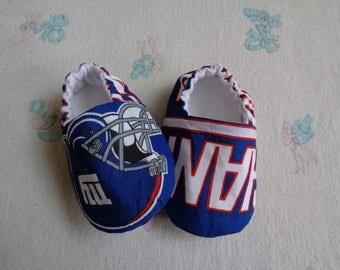 New York Giants Baby Crib Shoes, Baby Booties