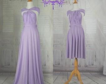 lavender dress length ball gown Infinity Dress Convertible Formal,wrap dress ,bridesmaid dress,party dress Evening dress C35#B35#