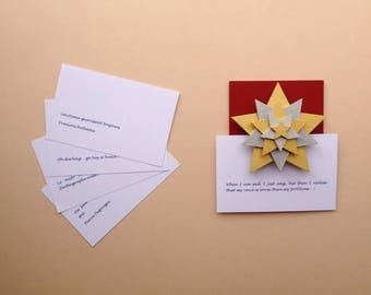 """Memo/door-photo, quote, """"cross-"""" 5 stars, wooden, gold, silver, red background - gift OBJECTS DECO objetsdeco2013"""