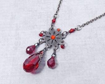 Victorian Jewelry, Gothic Necklace, Wicca Jewelry, bridal jewelry, Boho Jewelry, witchcraft magick, Victorian Jewelry, Birthstone Jewelry