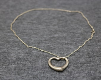 Sterling Silver, Vintage Necklace with Heart-Shape Pendant