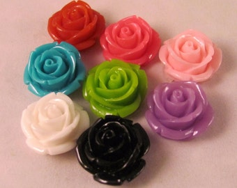 Set of (8) Small Rose Lapel Pin - Red - Men's Accessories- Everyday/Weddings/Proms