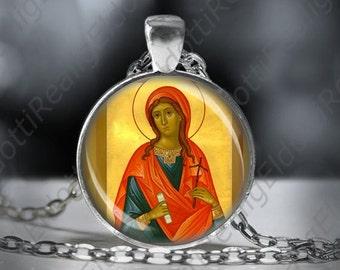 St. Nina the Enlightener of Georgia Catholic Necklace Christian Medal Pendant Patron Saint Religious Jewelry