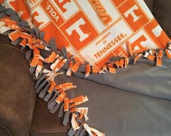 Tennessee Volunteer tie blanket