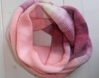 Knit cowl Circle scarf neckwarmer Accessories Scarves Soft scarf  Snood Shawl Neckwarmer Wrap Circle scarf Striped Warmscarf Infinity Loop