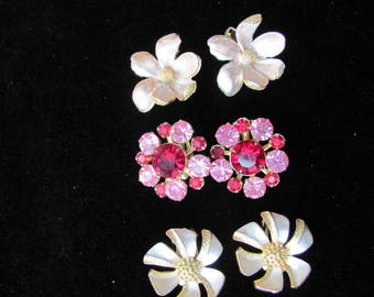 Vintage Coro Earrings, 3 Pair