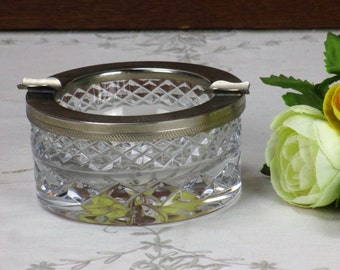 RESERVED CHENI Bohemian Crystal Ashtray Crystal Etain Boheme Czechoslovakia