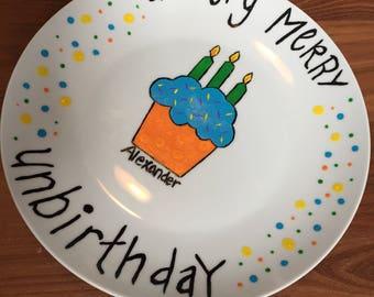 Children's Personalized Unbirthday Plate