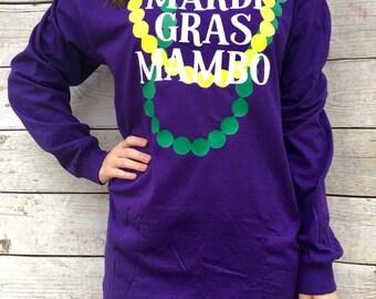 Mardi Gras Mambo Mardi Gras Tshirt, New Orleans, Festival, Carnival, Purple Green & Gold, Nawlins