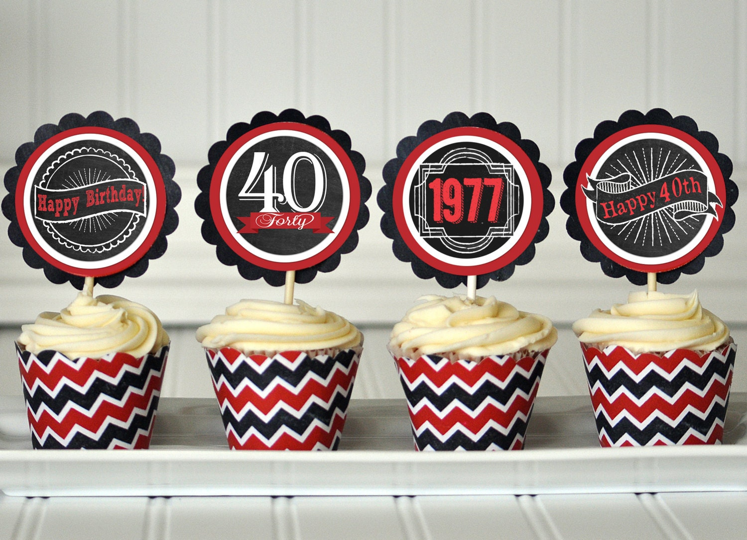 40th birthday cupcake toppers 40th birthday decorations 40th for 40th birthday decoration