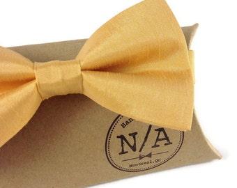Mustard bow tie, yellow bow tie, gold bow tie, wedding bow tie, adjustable, mens bow tie, adult bow tie, prettied bow tie, groomsmen, satin