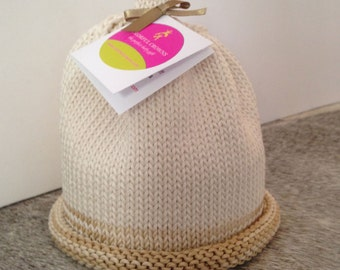 Bamboo and Cotton Cream Colored Colorful Crown