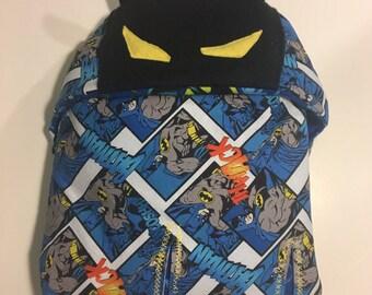 Batman car seat swaddle