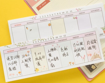 Weekly Plan Sticky Notes
