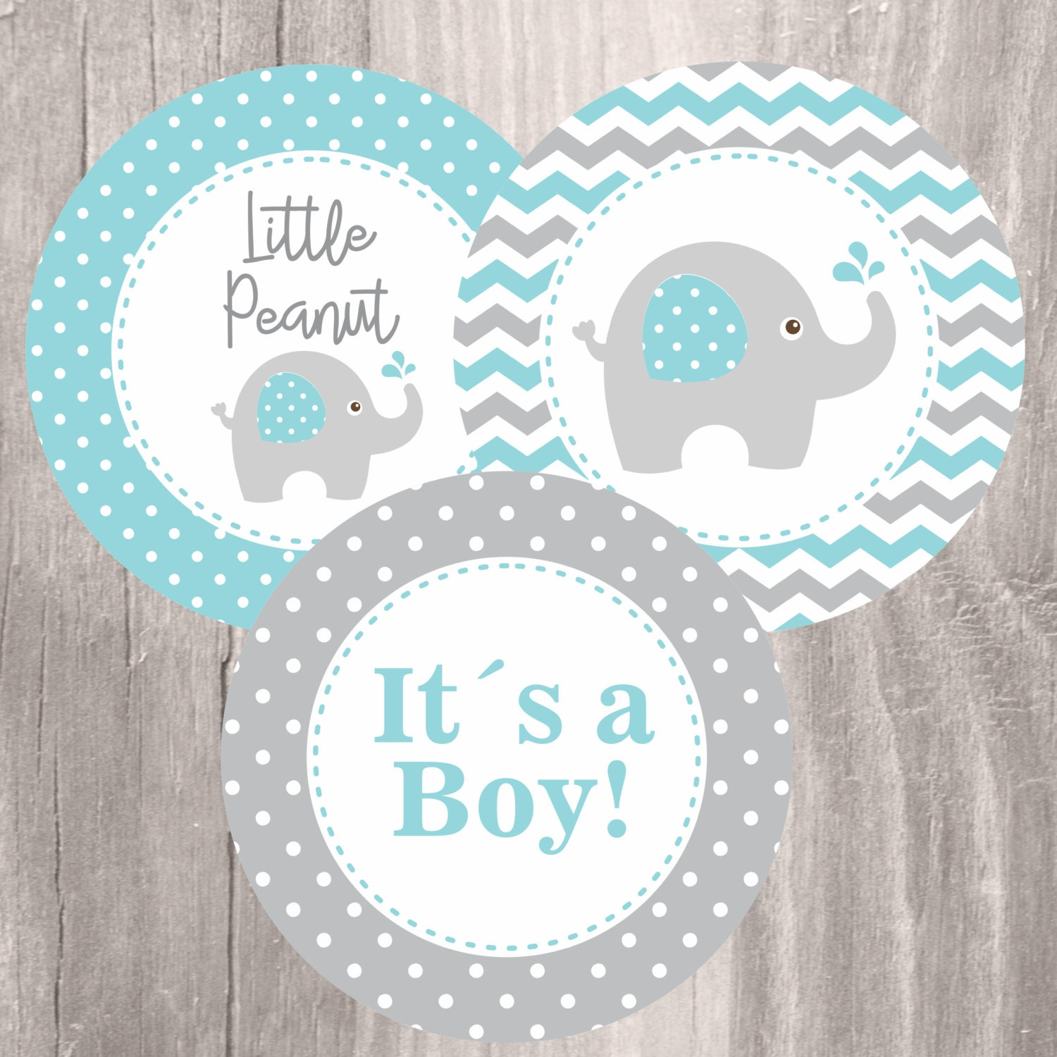 Elephant Themed Baby Shower: Elephant Baby Shower Printable Centerpieces Teal And Grey