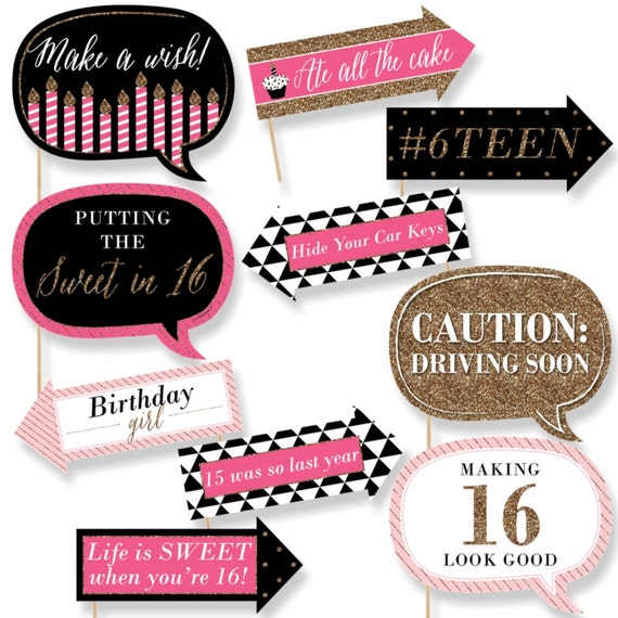 Funny Chic Sweet Sixteen Birthday