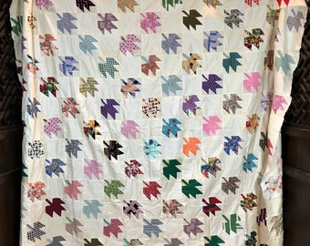 Maple Leaf  or flying geese quilt top